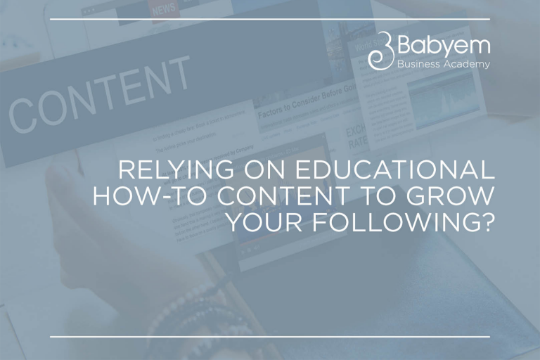 Educational How-to Content Isn't The Quickest Way To Grow Your Following